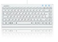 Perixx PERIBOARD-407 W, Mini Tastatur - USB - Klavierlack Design - DE Layout