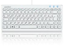 Perixx PERIBOARD-407W DE, Mini Tastatur - USB - Klavierlack Weiss - QWERTZ