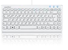 Perixx PERIBOARD-407W DE, Mini Teclado - USB - teclado Blanco - QWERTZ