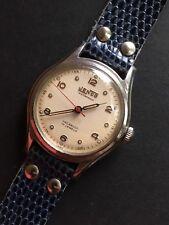 1940s Vintage Jenco /Jenny & Frey Watch Co./ Steel Mens Dress Watch Swiss Made