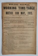 Midland Railway Working Time-Table, May 1912