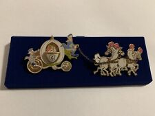 Disney Htf Cinderella Carriage Coach & Horses Le Pin Set.