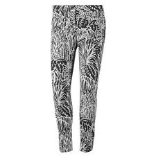new ADIDAS women's GRAPHIC TRACK PANTS sz M skinny 7/8 pants tights