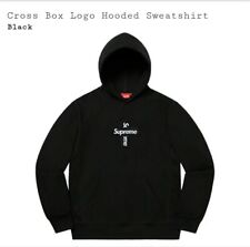 Supreme Cross Box Logo Hoodie Black Medium