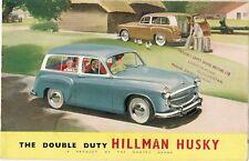 Hillman Husky Mk1 1955-56 UK Market Smaller Format Sales Brochure