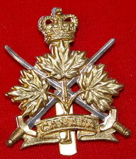 Canada GENERAL LIST (MEN) cap badge with Queen's Crown and slider