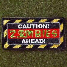 ZHT GEAR: CAUTION ZOMBIES AHEAD! MORALE PATCH W/VELCRO® ~ THE WALKING DEAD~ AMC