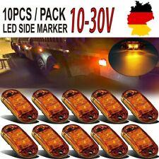 10Pcs 2LED Begrenzungsleuchten Seitenmarkierungsleuchte Orange Traktor Hänger DE