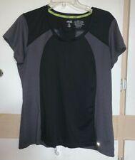Nice Shirt Top Tee Avia Size Xl BlackGrey Exercise Reflective Strip Short Sleeve