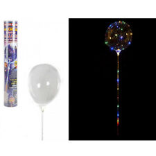 Light up Balloon Stick Multi Coloured 30 LED 12 Inch Party Decoration With Pump