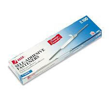 "ACCO Self-Adhesive Paper Fasteners 2"" Capacity 2 3/4"" Center Brown 100/Box 70021"