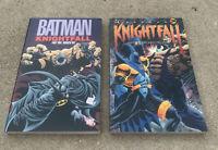 DC Comics Batman Knightfall Tpb Lot Parts One & Two - Softcover Bane Broken Bat