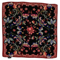 YAMAMAY FLORAL RED MEDIUM Silk Scarf 21 Inches
