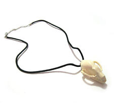 Bat Skull Voodoo Witch Necklace & Pin Costume Halloween Accessory 20""