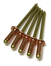 "Copper Blind POP Rivet - 4-4 #44, Brass Mandrel 1/8"" (0.188 - 0.250) Qty-1000"