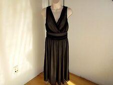 Cami Dress Black Net Nude Lined  Gathers Size 6  NWOT #A35