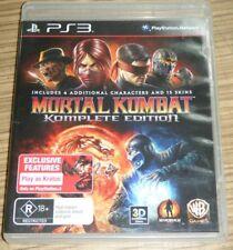 Sony Playstation 3 PS3 Game - Mortal Kombat: Komplete Edition