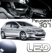 Peugeot 307 10 Ampoules LED Blanc Eclairage habitacle Veilleuses Plaque Coffre