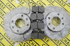 Peugeot 106 91-03, 247mm Vented Front Brake Discs Lucas Type Brake Pad