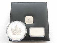 1998 Canada Maple Leaf 10th ANNIV $50 Cinquanta Dollari Argento 10 OZ (ca. 283.49 g) MEDAGLIA BOX COA