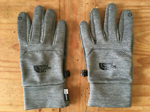 The North Face Womens & Mens Etip Gloves Winter Warm  E-Tip Glove Grey Small