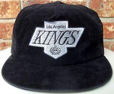 VINTAGE 90's LOS ANGELES KINGS NHL ANNCO CORDUROY SNAPBACK HAT (OG) NICE
