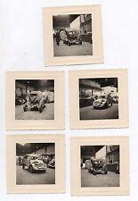 LOT 5 PHOTOS PHOTO ACCIDENT VOITURE AUTO 2 CV Citroën Garage Accidentée