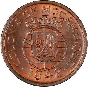 Mozambique 1942 10 Centavos CHOICE TONED UNC