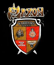 SAXON cd lgo WARRIORS OF THE ROAD Official SHIRT LRG New denim and leather