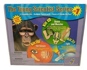 Young Scientists Set 7  Kit 19 Bones -20 Senses -21 Light    New Ages 5+