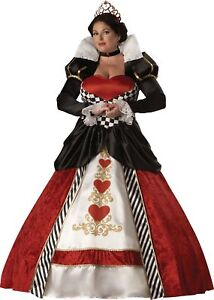 Queen of Hearts Elite Collection Adult Plus Size Womens Costume Royal XXL XXXL