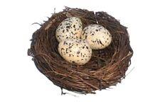 "Bird Nest With Faux Eggs Natural Decorative Bird Nest 3.5"" Spring Home Decor"