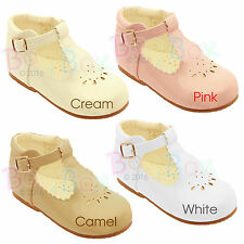Baby Girls Spanish Style Patent T-Bar Faux Leather Flat Shoes UK Sizes 2-6