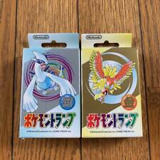 2 Decks :1999 Nintendo Poker Playing Cards - Pokemon (Gold & Silver)- Sealed New