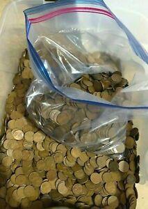 NOT UNSEARCHED BLOWOUT --1,500 Wheat Pennies with Bonus Goodies READ DESCRIPTION