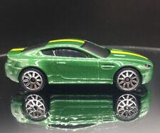 2021 HW EXOTICS Design ASTON MARTIN V8 VANTAGE green & yellow LOOSE Hot Wheels
