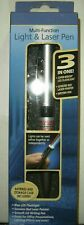 3 in 1 Light & Laser Red Pointer Pen Blue Led FlashLight +Storage Case Free Ship