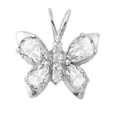 Cz Butterfly .925 Sterling Silver Pendant