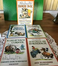THELWELL'S HORSE BOX BOOKS 4 PART BOXED SET WITH BOX 1974 VERY GOOD CONDITION