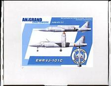 Anigrand Models 1/72 German Ewr Vj-101C Vtol Prototype Fighter