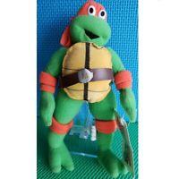 "Teenage Mutant Ninja Turtles 2002 Mikey 8"" Plush w/ Tags Stuffed Doll"