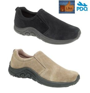 Mens Womens Suede Leather Casual Shoes Walking Hiking Jungle Slip On Trainers