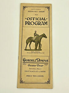 1938 64th KENTUCKY DERBY OFFICIAL PROGRAM KY Horse Racing