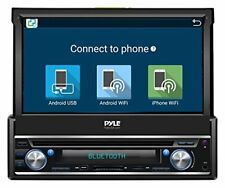 Sound Around Pyle Single DIN In Dash Android Car Stereo Head Unit w/7in Flip Out