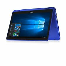 """New Dell i3169-0010BLU 2-in-1 Touchscreen 11.6"""" Win 10 Notebook Laptop Blue"""