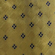 Gold Blue Silk ERVE JACQUES Tie Extra Long