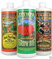 Fox Farm Liquid Nutrient Trio Soil Formula  - Big Bloom, Grow Big, Tiger Bloom