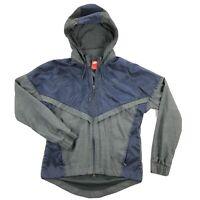 Nike Bonded Windrunner Womens Small Blue Hooded Soft Shell Windbreaker Jacket