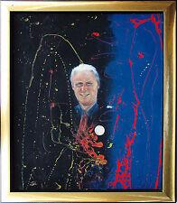 Giovanni Trapattoni allenatore calcio OLIO-VERNICE-dipinto 1997 70 x 59 cm Jozsef Toth