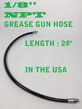 "1/8"" NPT THREADS 24"" FLEXIBLE GREASE GUN WHIP HOSE WORKING PRESSURE 4500 PSI"